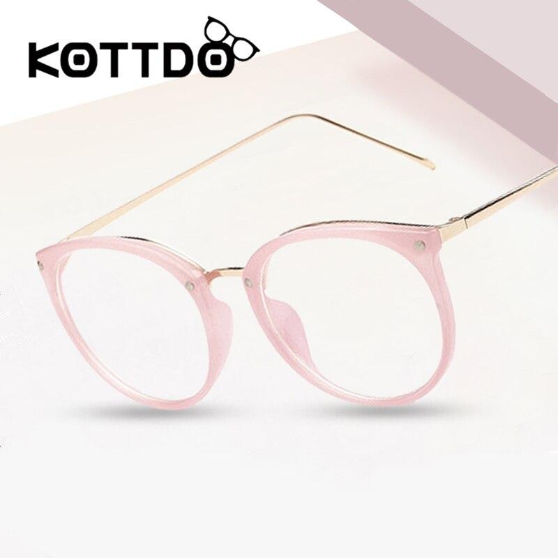 KOTTDO Vintage Optische Brillen Frauen Rahmen Myopie Runde Metall Unisex Brillen Weiblichen Brillen oculos de grau Brillen