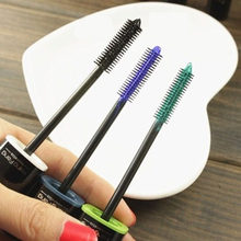 Hot Multi-Color Cosmetic Long Fiber Curl Mascara Eyelash Extension Grower Makeup(China)