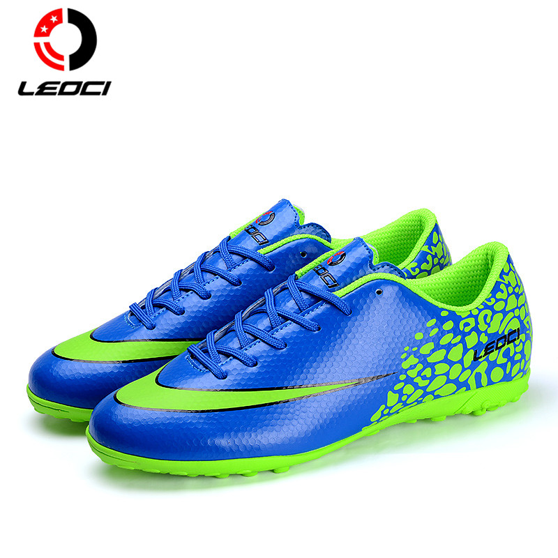 LEOCI Men's Boys Girls TF Soccer Shoes Tuif Football Boots Ergonoms Design Botas De Futbol For All Seasons Size 33-44 dr eagle original superfly football boots man football shoes with ankle soccer boots footbal shoes sock size 38 45 sneakers