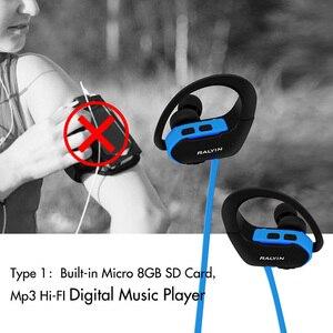 Image 3 - Ralyin สวมใส่แบบพกพา MP3 เครื่องเล่นเพลง 8GB หูฟังเครื่องเล่น mp3 player ชุดหูฟังหูฟัง MP3 กันน้ำสำหรับ Xiaomi