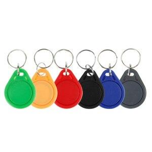Image 3 - 100 قطعة تتفاعل keyfobs 13.56 MHz سلاسل المفاتيح بطاقات شعارات nfc ISO14443A MF Classic® 1k nfc التحكم في الوصول رمز البطاقة الذكية ستة ألوان