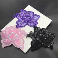 20 teile/los Pfingstrose Blume Eisen Auf Patches für Kleidung Applique für Kleid Kostüm Mantel Jacke DIY Zubehör Nähen Auf Blume patches