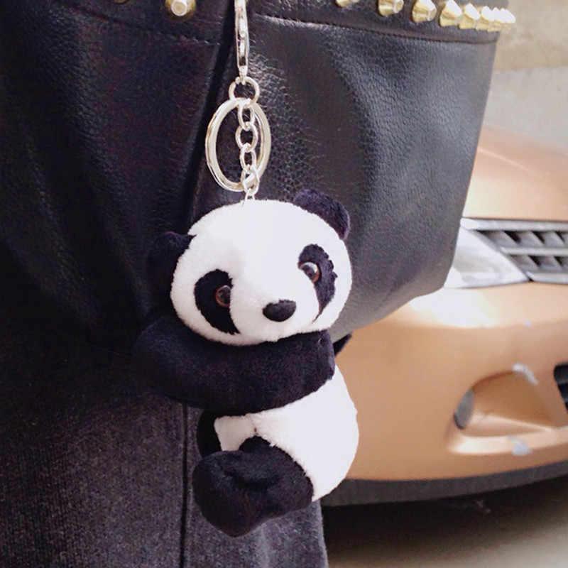 Llavero Animados Negro Juguete Dibujos Hombres Juguetes Blanco Llave Panda Titular Coche Peluche Cadenas Mujeres Clave Recuerdo Y Lindo De eBoWrdxC