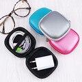 Ngansek bonito candy colorido square saco de armazenamento para earphone headphone earbuds sd card cabo usb e carregador