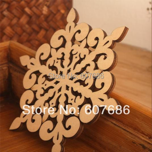 Good 20 Pieces Beverage Drink Coasters Made Of Natural Wood, Wooden Covered  Snowflake Coaster Mat For Good Ideas