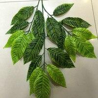 5 Dozen Spring Green Banyan Model Simulation Decoration Tree Leaves Children Plant Artificial Simulation Model Suits