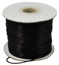 한국어 왁스 처리 된 폴리 에스터 코드, 비드 코드, 블랙, 1.5mm, 약 185 야드/롤