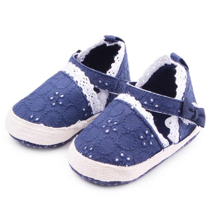 0-12M Infant Newborn Baby Shoes Princess Lace Bowknot Anti-Slip Kids Toddlers Girls Shoes First Walker2