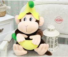 new Plush monkey toy lovely banana monkey doll gift about 60cm