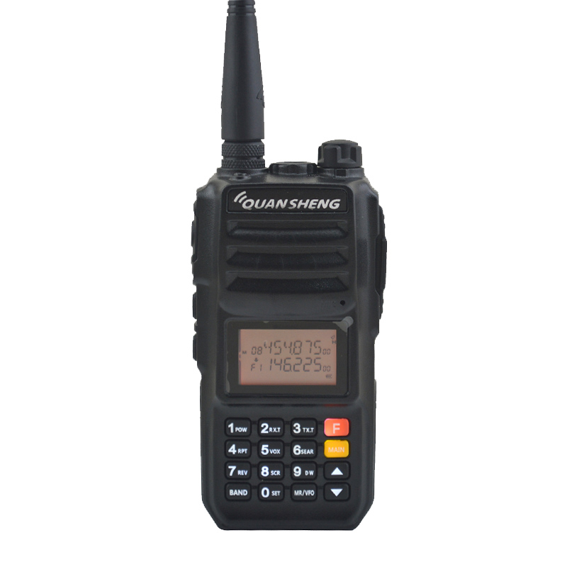 Quansheng TG-UV2PLUS Dual Band VHF 136-174MHz, UHF 400-470MHz 5Watt Output Power FM Portable Two-way Radio Ham Walkie Talkie