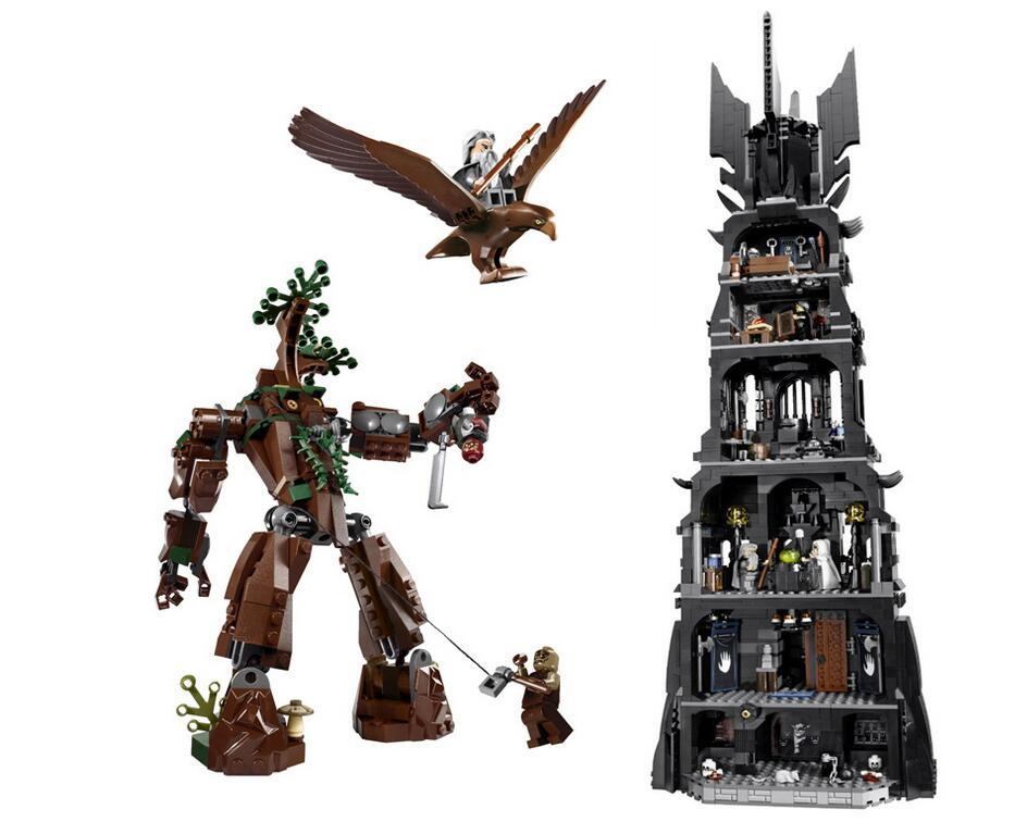 16010 2430Pcs Lord of the Rings The Tower of Orthanc Dumbledore Model Building Block Bricks Compatible With 10237