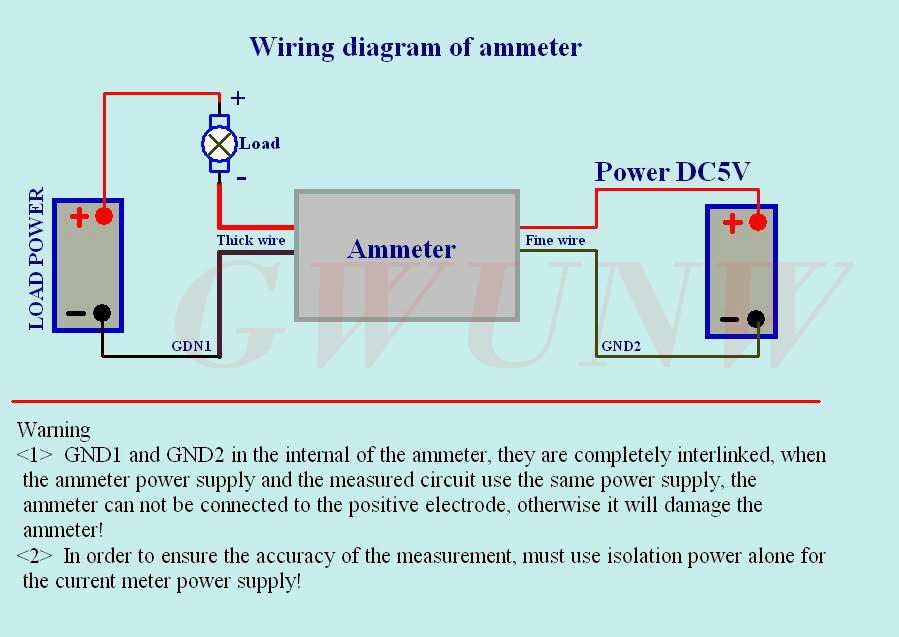 GWUNW BY456A 0 9.999A(10A) 4 bit digit ammeter Current Panel Meter ...