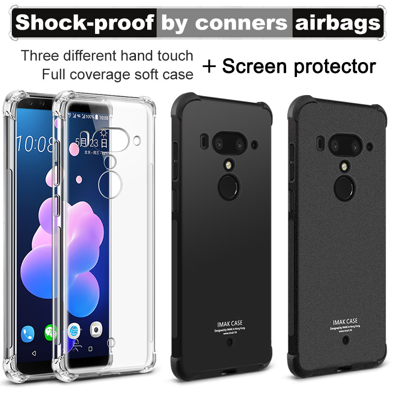 US $4 98 |IMAK Airbag Surrounded Protection Shockproof Case for HTC U12  Plus U12+/U11 Plus/U Ultra/U11 Eyes/U11 Life Clear Soft TPU Case -in Fitted