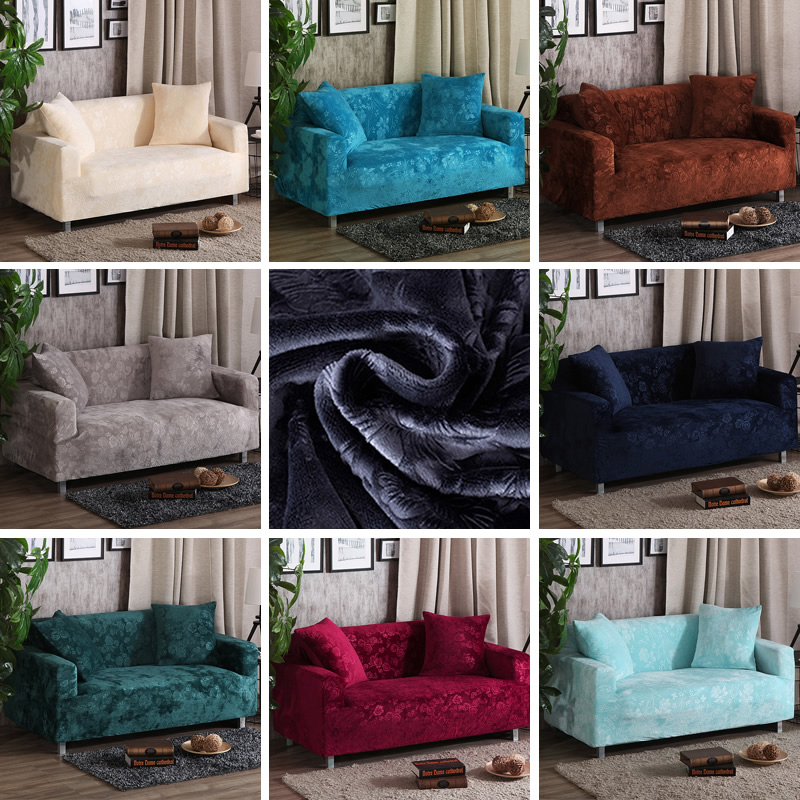 Velvet fabric Thick sofa cover stretch seater covers Couch cover Loveseat sofa Funiture warp slipcovers covering