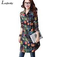 Chemise à manches longues femmes 2017 nouveau arrivée automne vintage blouses print patterns mode coréenne clothing casual chemises dames tops