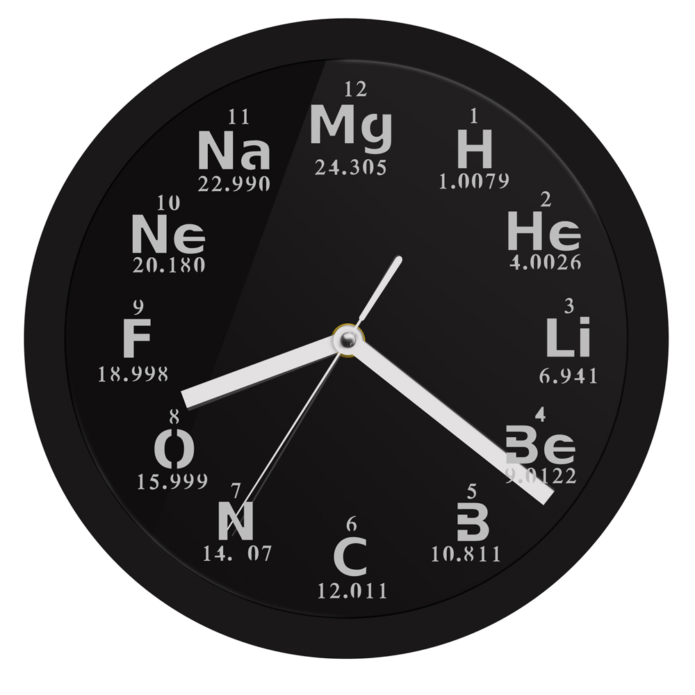 Periodic Table Element Wall Clock Science Chemical Elements LED Lighting Wall Clock Chemistry Science Geeks and Teachers Gift