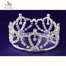 Peacock star свадебное принцесса детские горный хрусталь full circle круглый мини корона ct1736