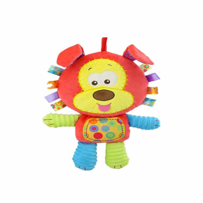 1 шт./лот детские игрушки мультипликационных животных свинья-Кролик Утка Собака Обезьяна Лев головоломка-кольцо колокольчик плюшевые куклы детские игрушки спокойный подарок