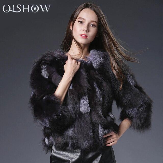 Real Fox Fur coat Jacket women Real Fox Fur Vest for women Real Noble fashion luxury genuine Fur jacket coat women QS-87