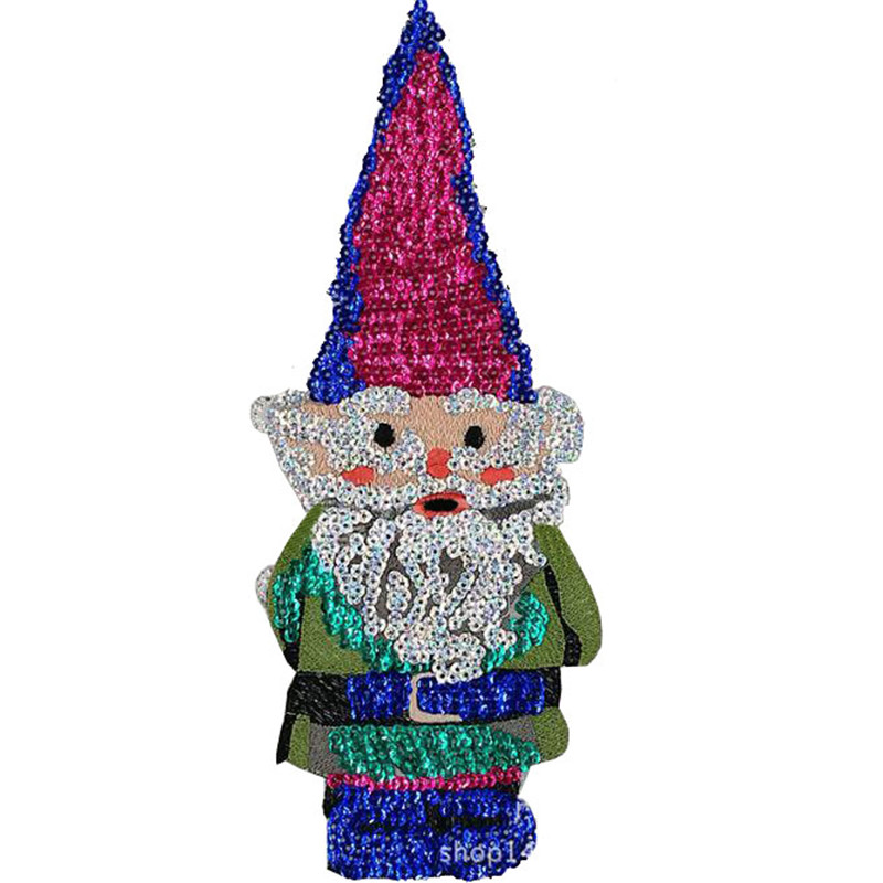 30cm father christmas patch deal with it clothes iron on patches for clothing t shirt sequins stickers halloween christmas gifts