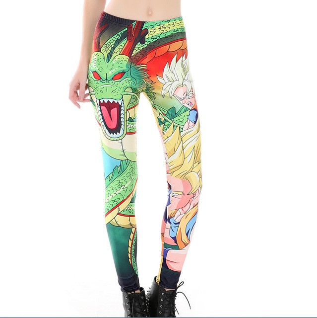 Women Dragon Ball Plus Size Skinny Leggings