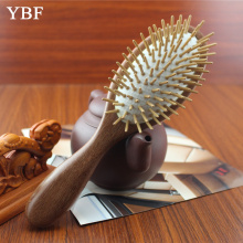 2016 Fashion NEW Wooden Red Sandalwood Air bag Hair Combs Natural Antistatic Head Massager Tool Airbag Relaxation Brushes