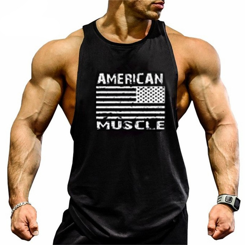 Enthusiastic Brand Clothing Bodybuilding Fitness Men Tank Top Workout American Muscle Vest Stringer Sportswear Undershirt