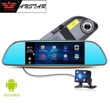 "Anstar 7.0 ""3 г Видеорегистраторы для автомобилей видео зеркало Android GPS FHD 1080 P Автомобильные видеорегистраторы Bluetooth WI-FI автомобиля Камера DVR регистраторы продукты"
