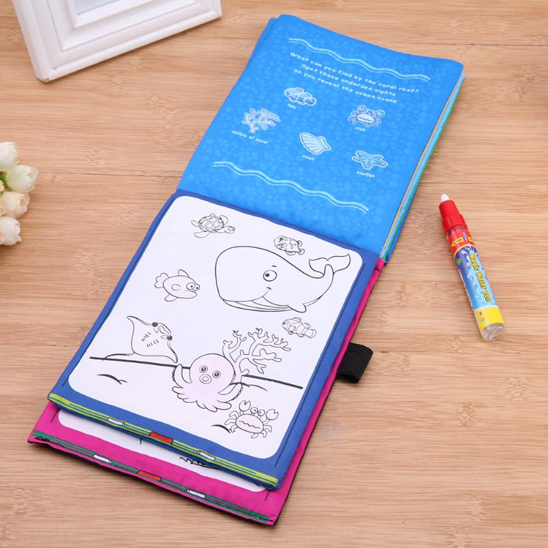 Magic-Water-Drawing-Book-Kids-Animals-Drawing-Book-with-Magic-Pen-Baby-Educational-Doodle-Painting-Board-Coloring-Drawing-Toys-3