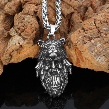Nordic Viking amulet Odin Amulet Necklace With Valknut Rune Gift Bag  Viking Necklace