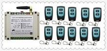 New AC220V 250V 380V 30A 2CH Radio Controller RF Wireless Relay Remote Control Switch 315 MHZ 433 MHZ 10 Transmitter+1 Receiver