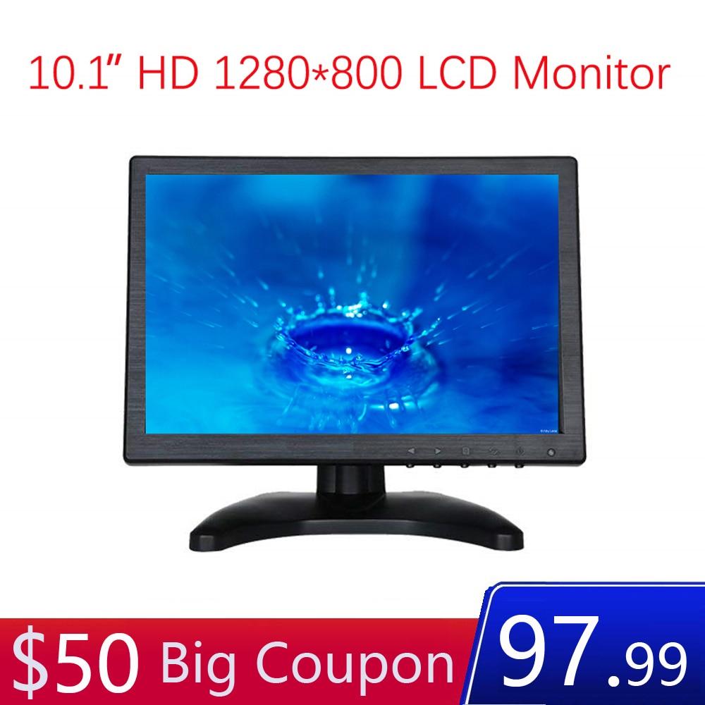 10.1 pouces moniteur 1200*800 avec vidéo Audio AV BNC VGA HDMI 10 pouces affichage pour CCTV caméra PC DVD ordinateur portable