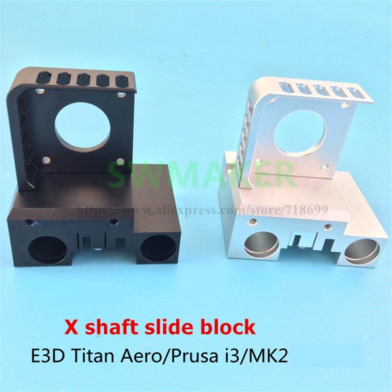 SWMAKER X arbre bloc coulissant support moteur + boucle de ceinture pour Titan Aero Prusa I3 MK2 tête d'extrusion directe d'imprimante 3D