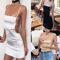 2017 Summer fashion Dress Sexy Casual Sleeveless strapless harness Beach Dress Women Backless hollow Party Dresses Vestidos