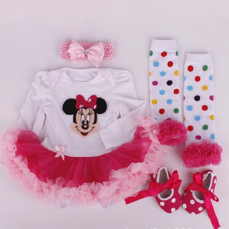 clothing girls baby sets newborn Lace Tutu Romper Dress Jumpersuit+Headband+Shoes 4pcs Set Santa Claus bebes first birthday gift baby girl clothing sets christmas set lace tutu romper dress jumpersuit headband shoes 3pcs set bebe first birthday costumes