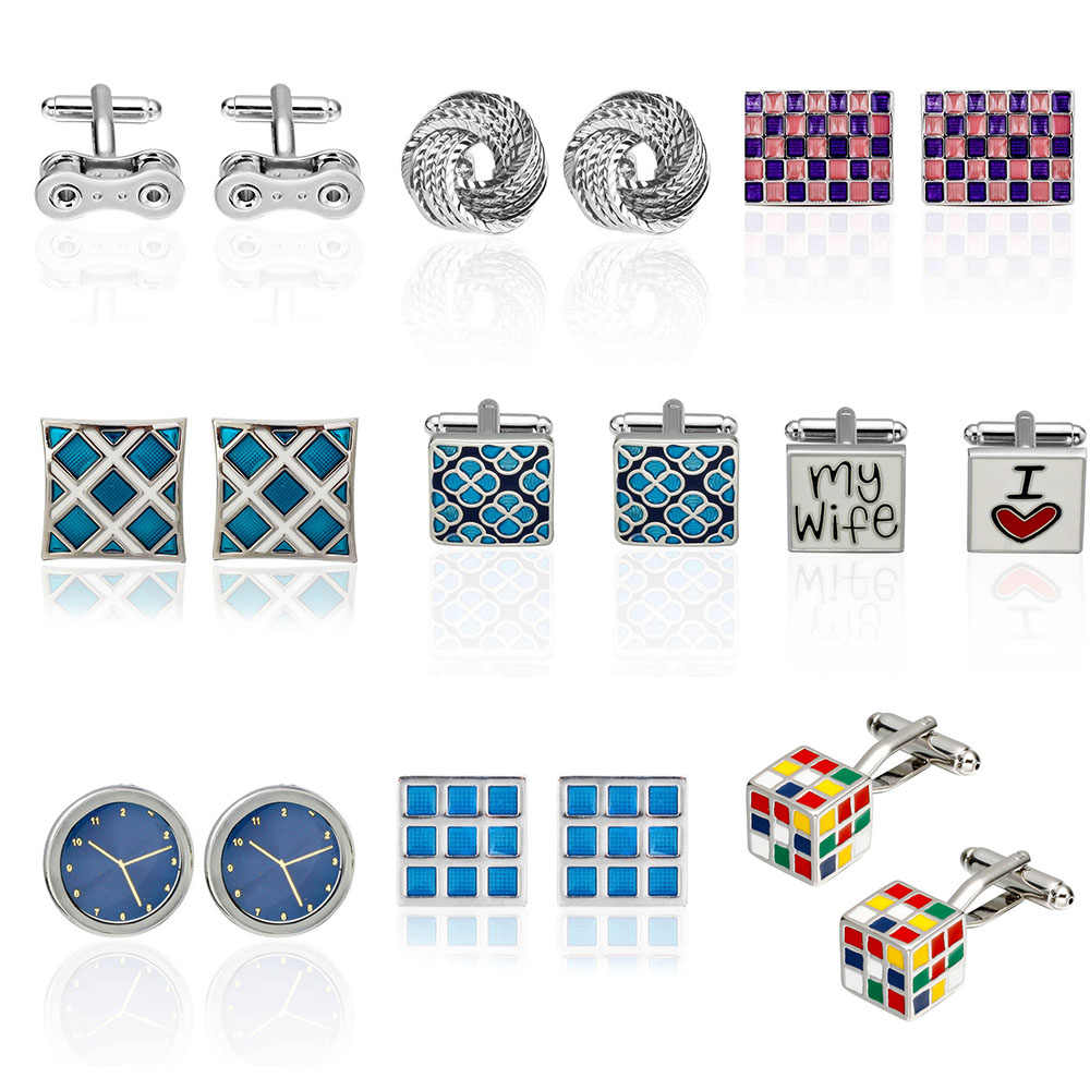 Luxury shirt cufflinks for mens Brand cuff button de manchette Colorful cuff links High Quality abotoaduras Jewelry
