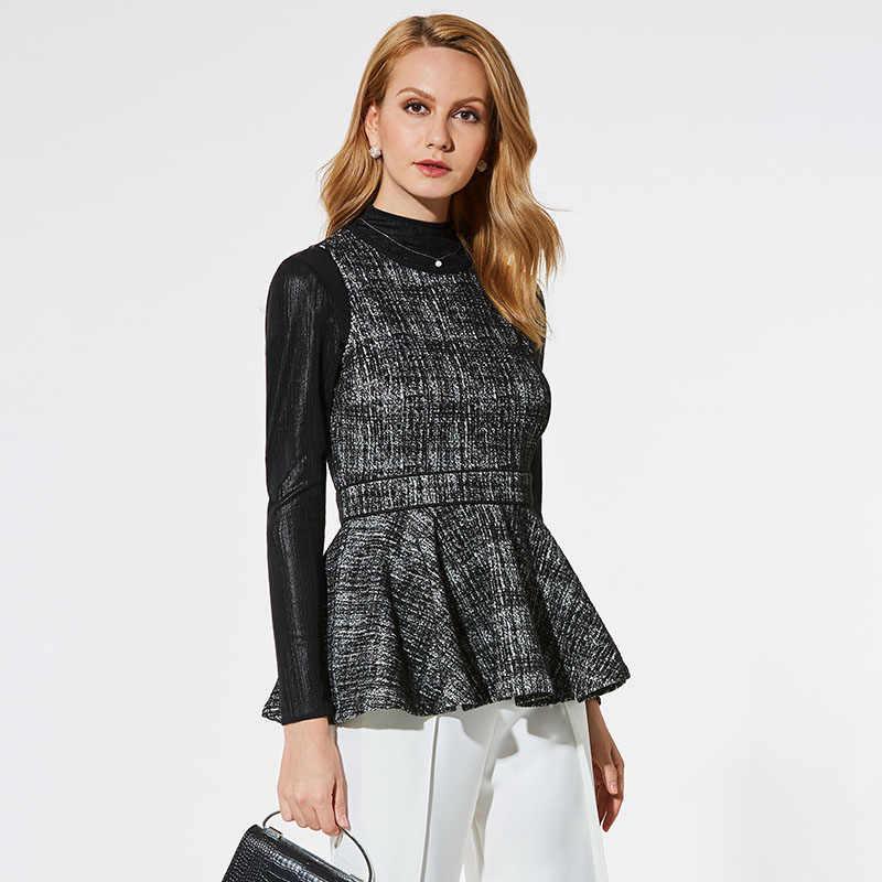 8abf1648b11b12 ... Women Office Tank Blouse O Neck Autumn Spring Knitted Sleeveless Slim Tops  Shirts Lady Black Plaid ...