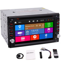 Car Radio Multi Touch Screen 2 Din Car Stereo DVD Player GPS Navigation SD USB AUX