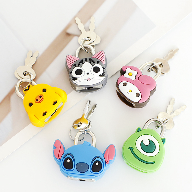 Creative Travel Accessories Luggage Locks Protector Holder Accessory Packe Organizers Cartoon Animal Journal Locks Dropshipping
