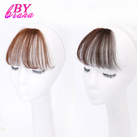 100 Clip In Human Hair Extensions Human Remy Hair Bangs Two Styles Natural Color 1Pc Free