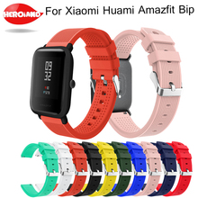 Sports Silicone Watch Band Wrist Strap for Xiaomi Huami Amazfit Bip BIT PACE Lite Youth Smart Watch Replacement band for huami mijobs 20mm silicone wrist watch band strap for xiaomi huami amazfit bip bit pace lite bracelet smart watch pulseira accessories