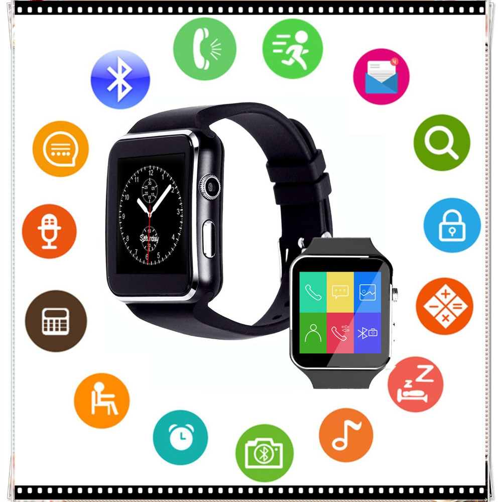 Bluetooth Smart Watch X6 Sport Smartwatch with Camera Support SIM/TF Card Whatsapp Facebook for iphone and Android Phone