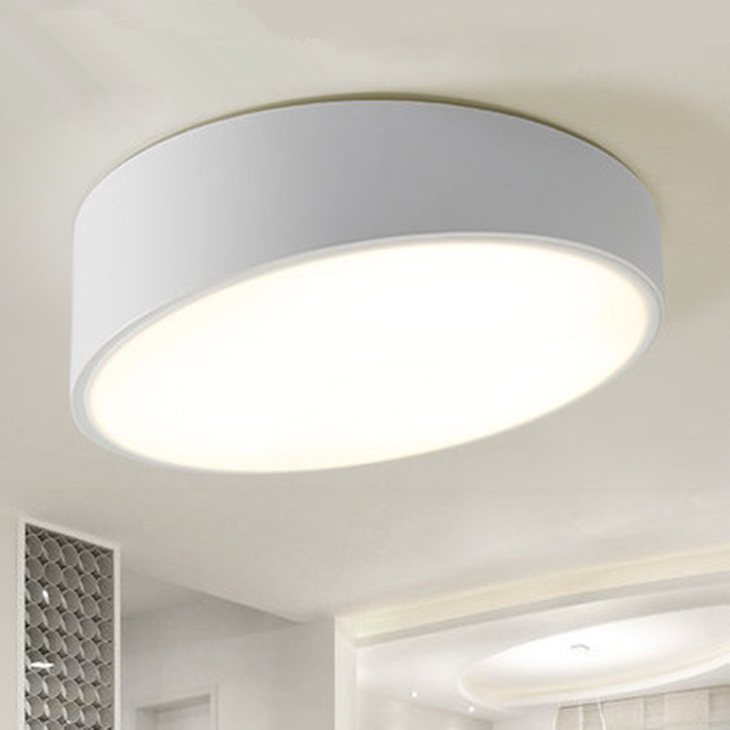 ФОТО Modern Ceiling light LED lamp diameter 25cm iron baked paint body Acrylic faceplate panel for Bedroom LED light fixture