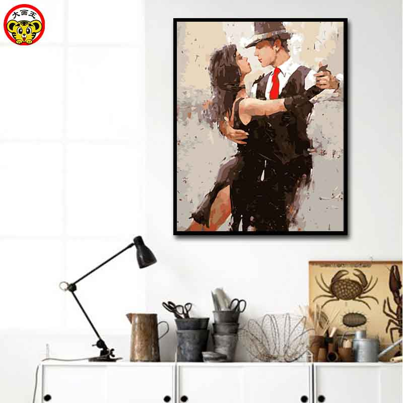 tango painting by numbers dance picture painting by numbers abstract draw paintings diy paint NEW home wall painting fashion