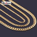 High Quality Width 3.5mm/ 5mm/7mm Stainless Steel Gold Cuban Chain Waterproof  Men Curb Link Necklace Various Sizes
