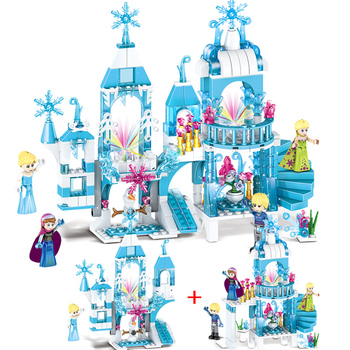 329pcs Princess Belles Enchanted Castle Light Building Blocks for Girl Friends Kids Model Marvel Compatible with Legoe Toys Gift