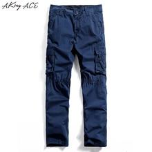 Новый 2017 Бесплатная доставка Для мужчин синий Брюки-карго с Mutil карманы повседневные штаны для мужчин старинные молния Pantalon брюки-карго Homme, ZA217