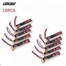 5 / 10 pces uruav 3.8 v 250 mah 40c/80c 1 s lipo bateria recarregável com conector de tomada ph2.0 para us65 uk65 qx65 uruav ur65