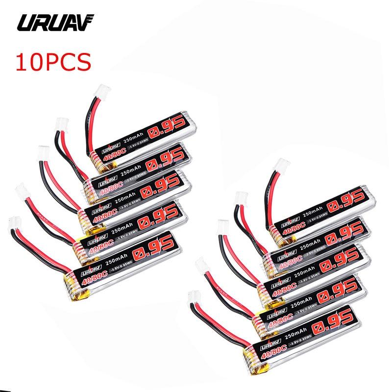5/10 stücke URUAV 3,8 v 250 mah 40C/80C 1 s Lipo Batterie Wiederaufladbare W/PH2.0 stecker Stecker für Eachine US65 UK65 QX65 URUAV UR65