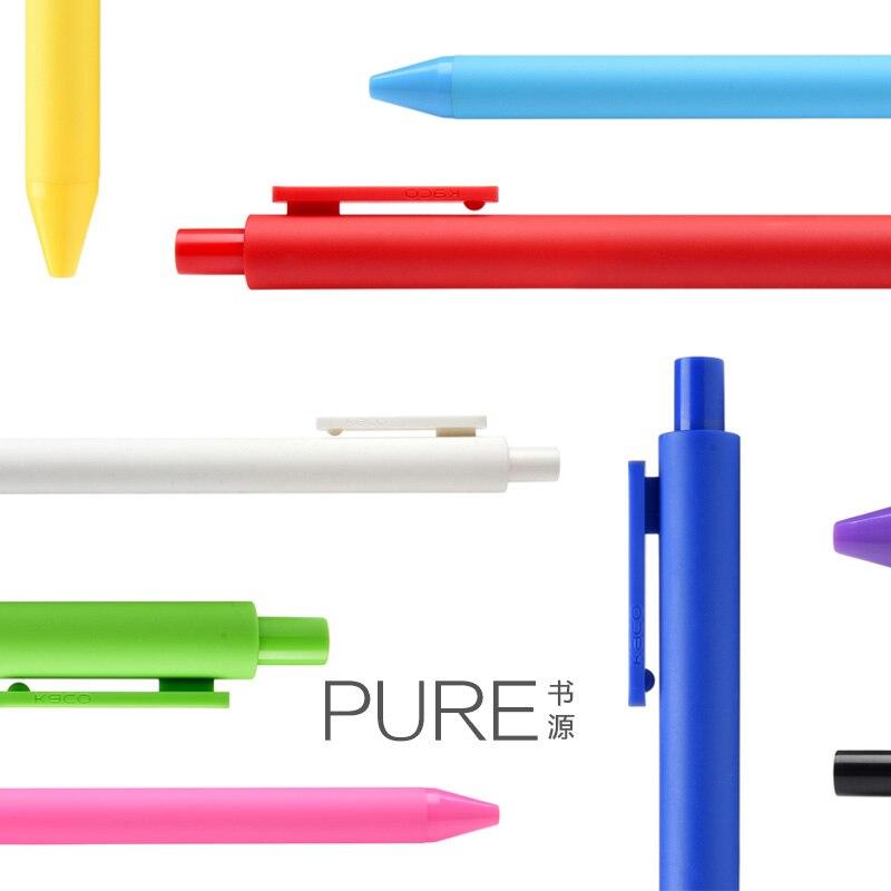 где купить 10pcs/lot KACO PURE Simple Candy Color Gel Pen 0.5mm Soft Silicon Colorful Pen Stationery Supplies дешево